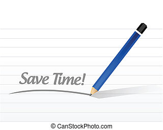 save time message illustration design