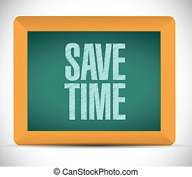 save time message on a board. illustration