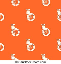 Save time pattern vector orange