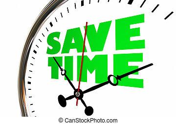 Save Time Savings Management Clock Hands Ticking 3d Illustration