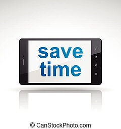 save time words on mobile phone