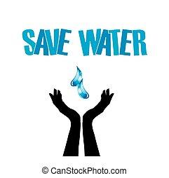Save water- hands saving water