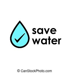 Save water icon design