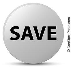 Save white round button
