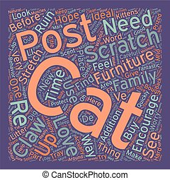 Save Your Furniture Sanity And Your Cat Claws text background wordcloud concept