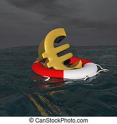 Saved euro - 3D render