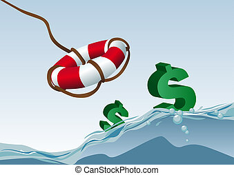 Saving dollars - Abstract vector illustration of some...