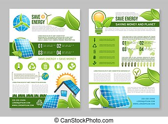 Saving energy brochure template for eco design