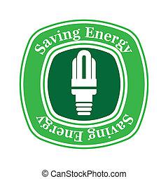 saving energy over white background vector illustration