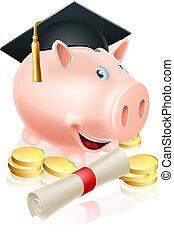 Saving for career piggy bank