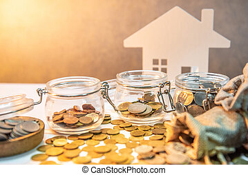 Saving money and  property investment concepts