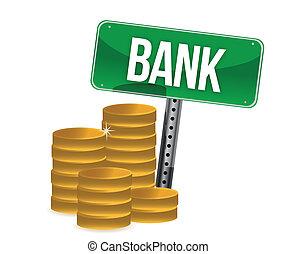 Saving money concept bank coins