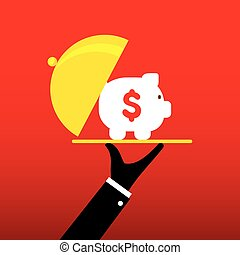 saving money concept design