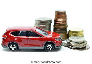 Saving money for a car concept