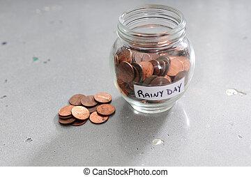 Saving money for a rainy day