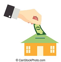 Saving money for buy home concept