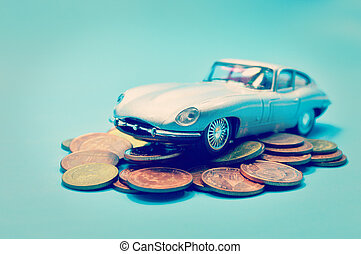 Saving money for car business concept