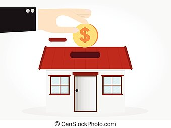 Saving money house