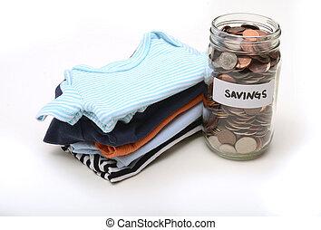 saving money on baby clothes