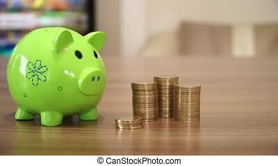 Saving Money with Coins - Money saving.