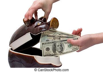 saving of dollars