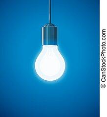 Saving power Shining Electric bulb. Light glass lamp....