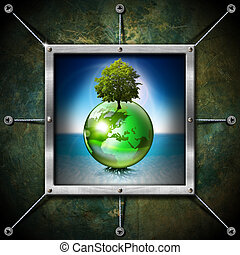 Saving World Frame - Ecology Concept