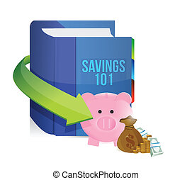 savings 101 book illustration design