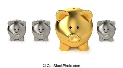 Savings And Investment Business Concept