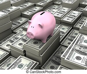 Concept of savings.