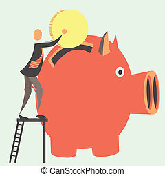 Savings - Reliable investments in bank. Storage in bank. EPS...