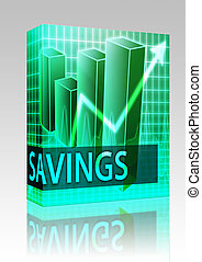 Savings finances box package - Software package box Savings...