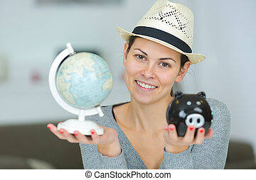 savings for travel concept