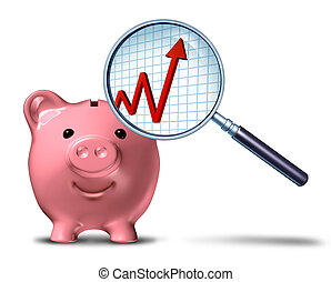 Savings-Growth-Chart - Savings growth chart business symbol...