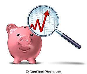Savings-Growth-Chart - Savings growth chart business symbol...