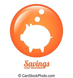 savings icon design, vector illustration eps10 graphic