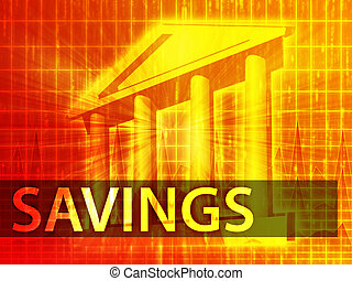 Savings illustration