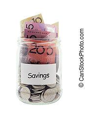 Savings in Glass Jar