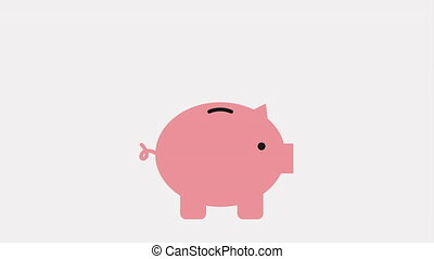 savings money design, Video Animation