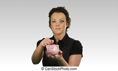 Savings money in a piggy bank