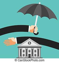 savings., protéger, parapluie