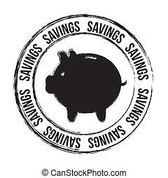 savings seal - saving seal over white background vector...