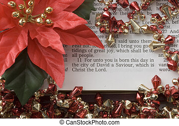 "Saviour Born Today - Scripture ""for unto you is born this..."