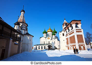 Saviour-Euthimiev monastery at Suzdal in winter - Wide angle...