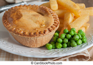 Savory Meat Pie Chips and Peas