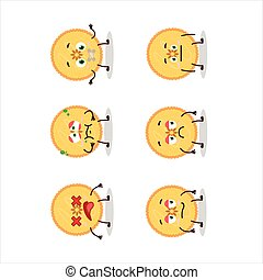 Savory pie cartoon character with nope expression.Vector ...