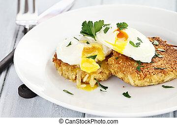 Savory Quinoa Patties - Savory Quinoa and potato pancake...