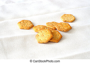 savory snack - Savory snack on white cloth