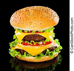 savoureux, hamburger, appétissant