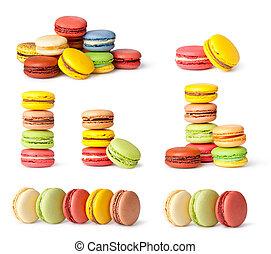 savoureux, macaron, coloré